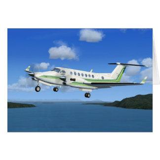 King-Air Turboprop Aircraft Greeting Cards