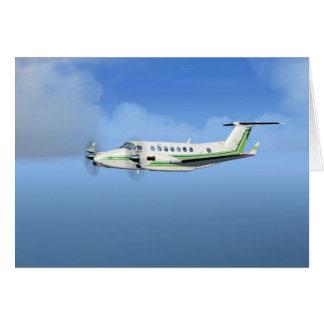 King-Air Turboprop Aircraft Greeting Card
