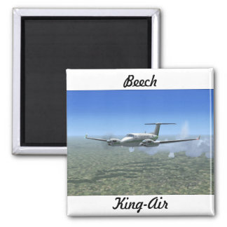 King-Air Turboprop Aircraft Magnet