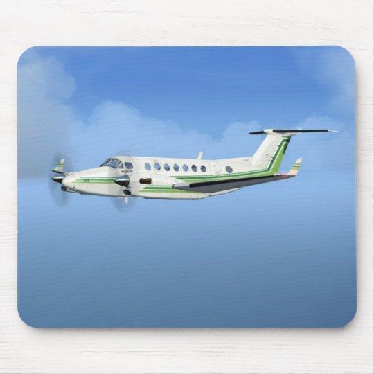 King-Air Turboprop Aircraft Mouse Pad