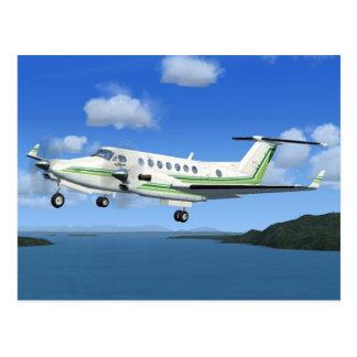 King-Air Turboprop Aircraft Post Card