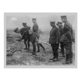 King Albert on battlefield World War 1 Postcards