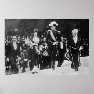 King Albert & Queen Elizabeth Ghent expo 1913 Poster