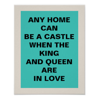King and Queen 11 x 14 Poster