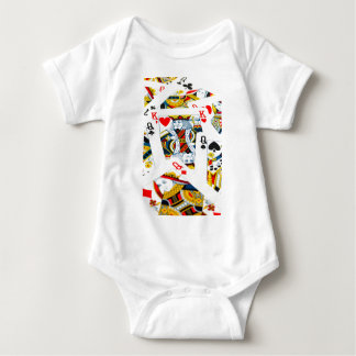 King and queen card baby bodysuit