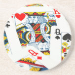 King and queen card coaster