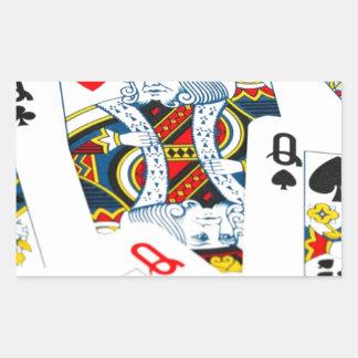 King and queen card rectangular sticker