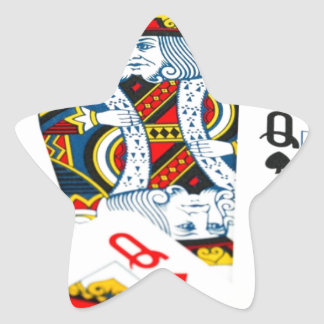 King and queen card star sticker