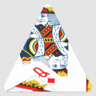 King and queen card triangle sticker