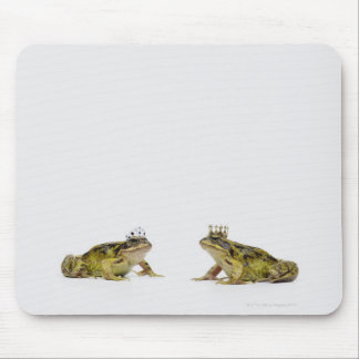 King and Queen frog looking at each other Mouse Pad