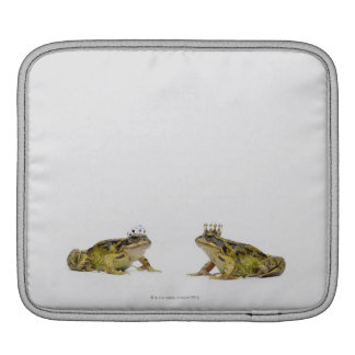 King and Queen frog looking at each other Sleeve For iPads