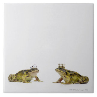 King and Queen frog looking at each other Ceramic Tiles