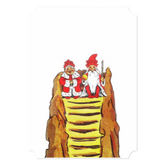 King and Queen Gnome on a Mountaintop Cards