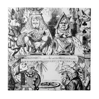 King and Queen of Hearts Alice in Wonderland Ceramic Tile