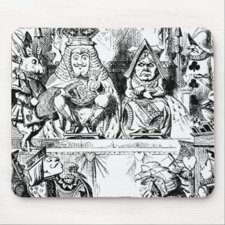 King and Queen of Hearts at Court Alice Wonderland Mouse Pad