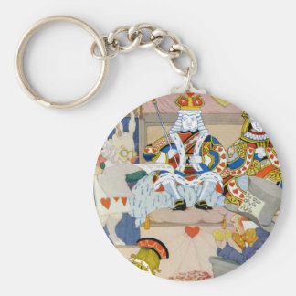King and Queen of Hearts at Knave of Hearts Trial Basic Round Button Keychain
