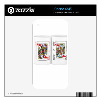 King and Queen of Hearts iPhone 4 Decals