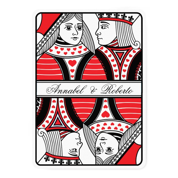 Queen Of Hearts Playing Card Wedding
