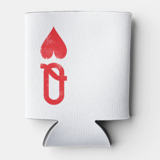 King and Queen of Hearts Playing Cards Couples Can Cooler