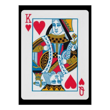 Valentines Themed King and Queen of Hearts Poster