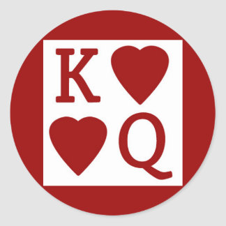 King and Queen of Hearts Stickers