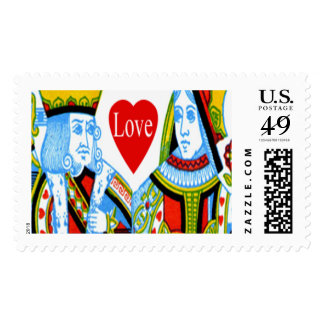 King And Queen Of Hearts Wedding Postage