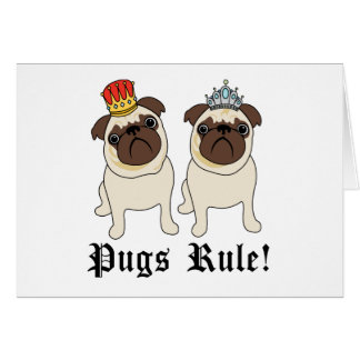 King and Queen Pug Cards (blank)