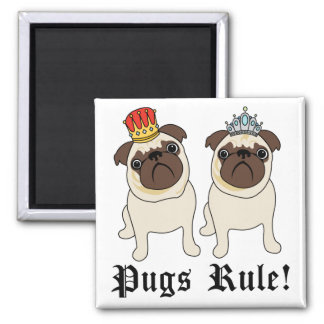 King and Queen Pug Magnets