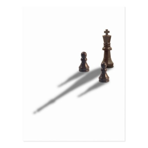 King and two Pawns Postcard