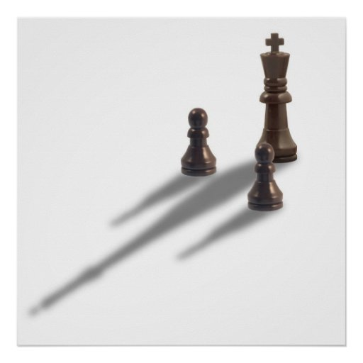 King and two Pawns Poster
