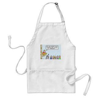 King answers question with arrest. adult apron