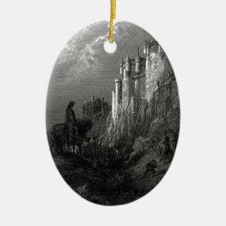 King Arthur and Camelot by Gustave Doré' 1868 Ceramic Ornament