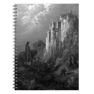 King Arthur and Camelot by Gustave Doré' 1868 Spiral Notebook