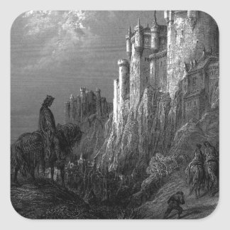 King Arthur and Camelot by Gustave Doré' 1868 Square Sticker
