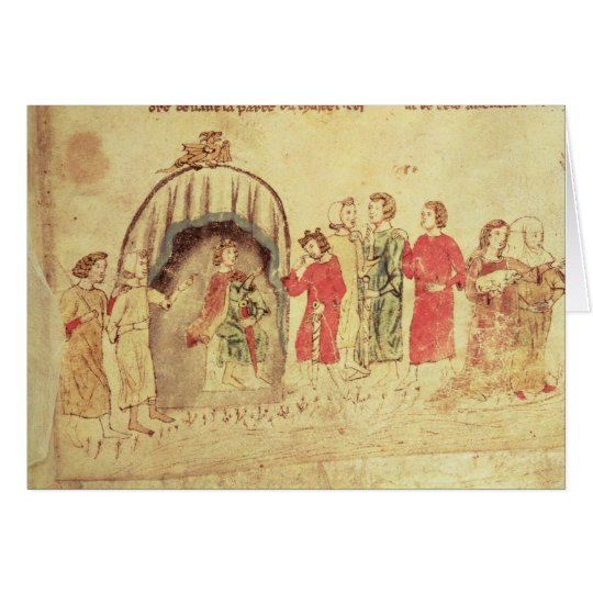 King Arthur and his Court, from the Roman Card