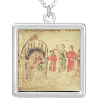 King Arthur and his Court, from the Roman Silver Plated Necklace