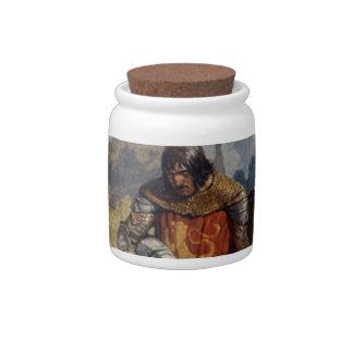 King Arthur & Castle Candy Jar