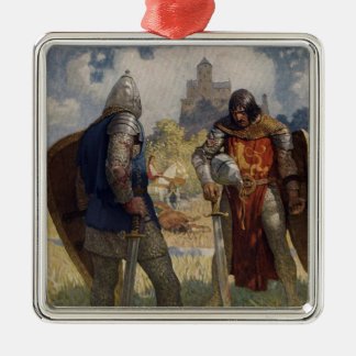 King Arthur & Castle Metal Ornament