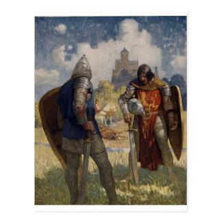 King Arthur & Castle Postcard