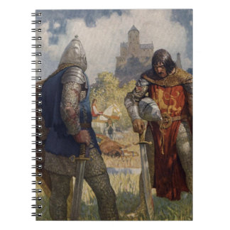 King Arthur & Castle Spiral Notebook
