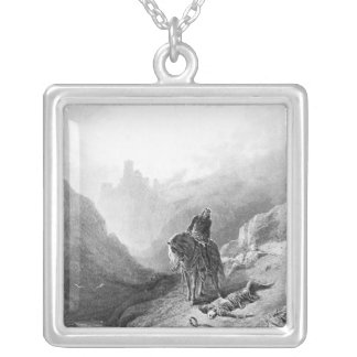 King Arthur discovers the Skeletons Square Pendant Necklace
