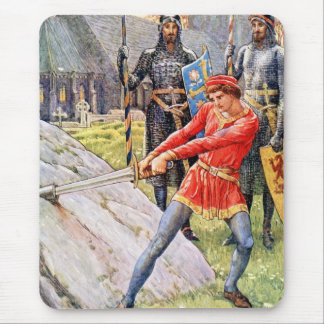 King Arthur draws the sword from the Stone Mouse Pad