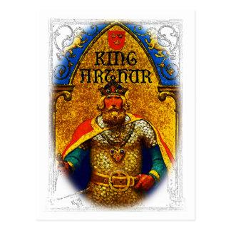King Arthur Enthroned Postcard