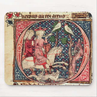 King Arthur Hunting, from the 'Romance of Merlin' Mousepad
