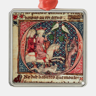 King Arthur Hunting, from the 'Romance of Merlin' Ornament