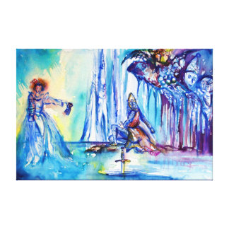 KING ARTHUR ,LADY OF THE LAKE AND EXCALIBUR CANVAS PRINT