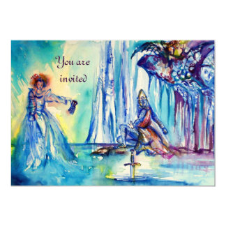 KING ARTHUR ,LADY OF THE LAKE AND EXCALIBUR felt Card