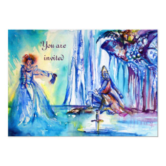 KING ARTHUR ,LADY OF THE LAKE AND EXCALIBUR linen Card
