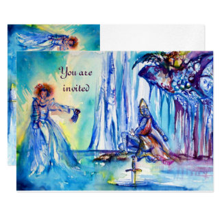 KING ARTHUR ,LADY OF THE LAKE AND EXCALIBUR silver Card