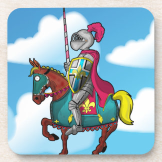 King arthur medievil knight and horse beverage coaster